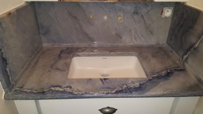 Plan vasque en quartz